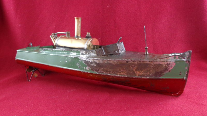 1900'S STEAMBOAT LIVE STEAM ENGINE TOY BOAT